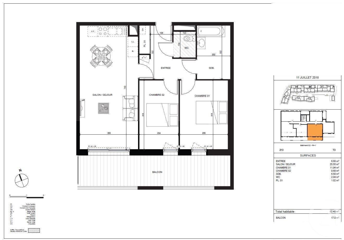 plan appartement t3