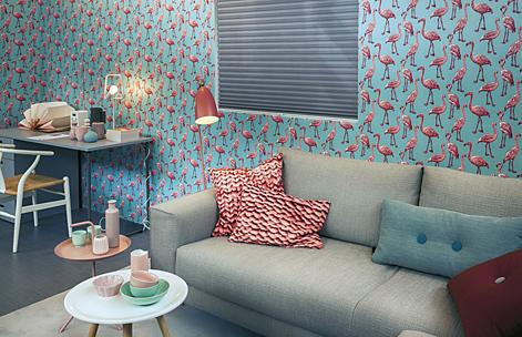 tendance le papier peint saffiche au salon comme dans les chambres